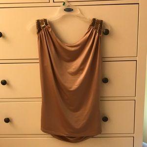 Gold dressy blouse